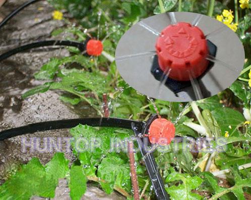 irrigation system adjustable nozzle dripper, micro drip irrigation adjustable dripper, adjust irrigation dripper, irrigation adjustable water dripper, orchard irrigation drippers