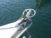 stern post with rudder protector