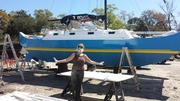 good help painting the boat