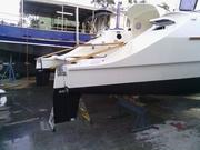 New rudder and skeg step up.