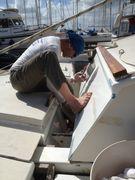 Thomas refurbishing the deck