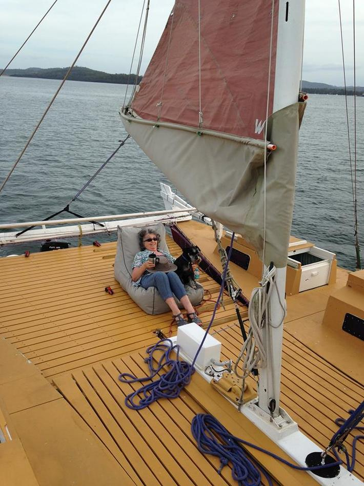 A relaxing day under sail
