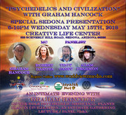 """""""Psychedelics And Civilization"""" With Graham Hancock Wed. 6-10pm May 15th, 2019"""