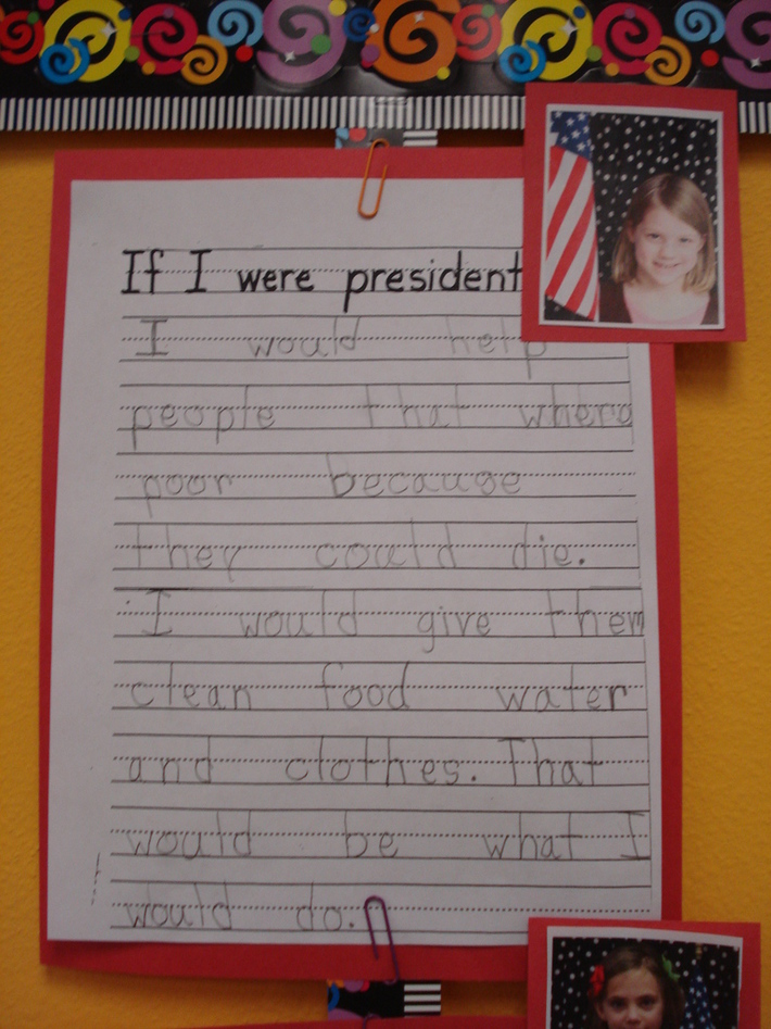 Emily Nored (age 6) - If I Were President of the United States