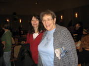 Joan Teller wearing our tee shirt at Center function IMG_0366