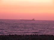 Ship delivering goods