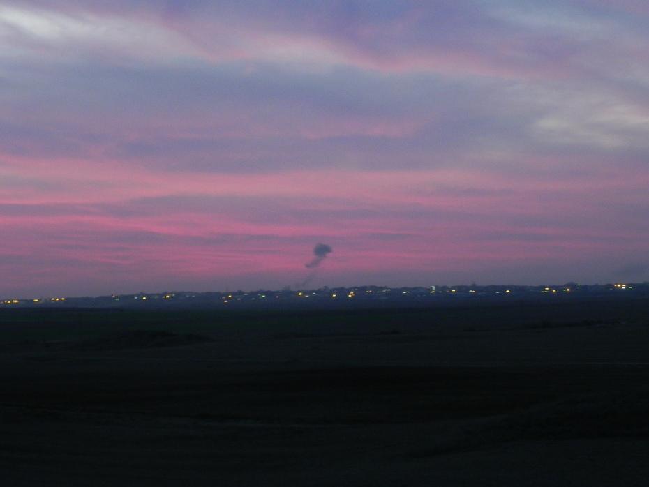 sunset cloud over Gaza