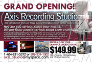 Axis Studio's Promo Flyer (BACK) sample