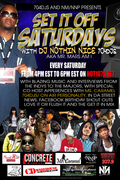 Set It Off Saturday flyer for Dj Nothin Nice 704djs FOR FOURMS