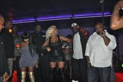 Pinky performing live with Lil Kim