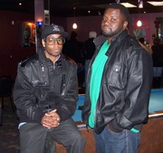 Me and D.Felder post after my performance for the Making The Next Hit artist showcase,.