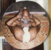 S.V. Govindan in yoga asana