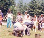 S.V.Govindan planting peace trees