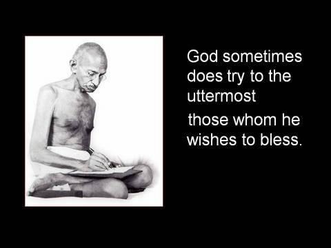 Gandhi on hardship