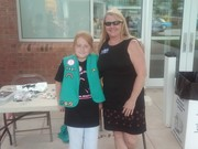 Maureen and a Scout