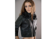 Leather flower jacket