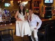 Hemp Wedding Dress with Tails tux jacket