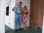 Herman's tea towel shirt org nat indigo jean Appliqued Dress