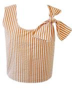 Marni Stripe Tie Shoulder Shell