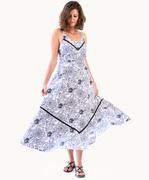 Black and White Silhouette Maxi Dress