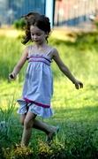 Elastic yoke summer dress