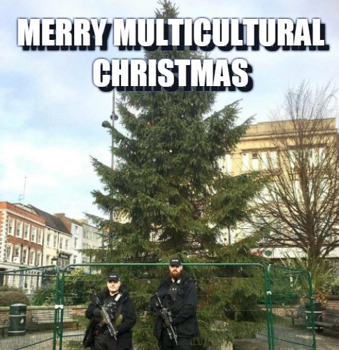 Merry Multicultural Holidays, you mean! Christmas just sounds so chauvinistic and supremacist and leaves out all the wonderful diversity of Chaunika and Ramadan