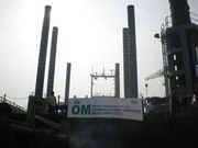 Om Projects flies their banner on the Maharani Jack-Up Platform