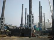 Maharani Jack-Up Platform laden on board the vessel in Mumbai Port