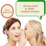 All You need to make residual income