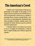 The Americans Creed