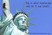 Lady Liberty Taking a Beating by Obama