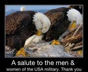 A SALUTE TO THE MEN AND WOMEN OF THE USA MILITARY. THANK YOU