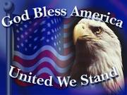 GOD BLESS AMERICA UNITED WE STAND