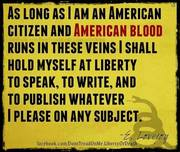 AS LONG AS I AM AN AMERICAN