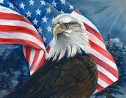 AMERICAN EAGEL PAINTING