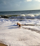 Marlow in the surf