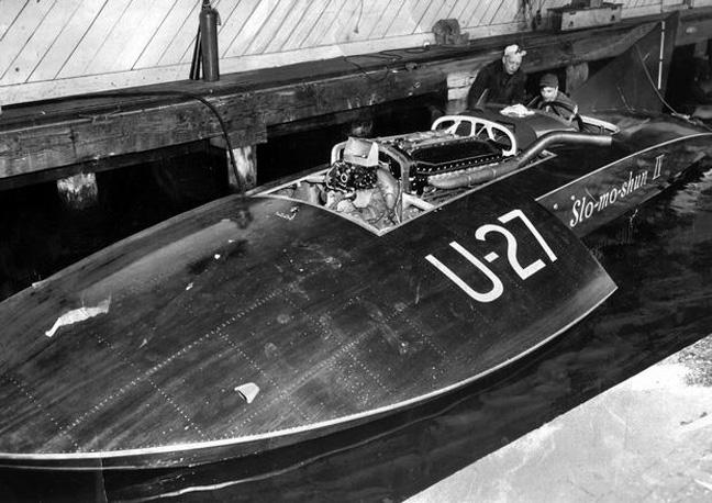 Slo-mo-shun IV, Stan Sayers and Anchor Jensen 1950