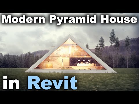Modern Pyramid House in Revit Tutorial