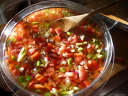 salsa type topping for a great bean and rice dish