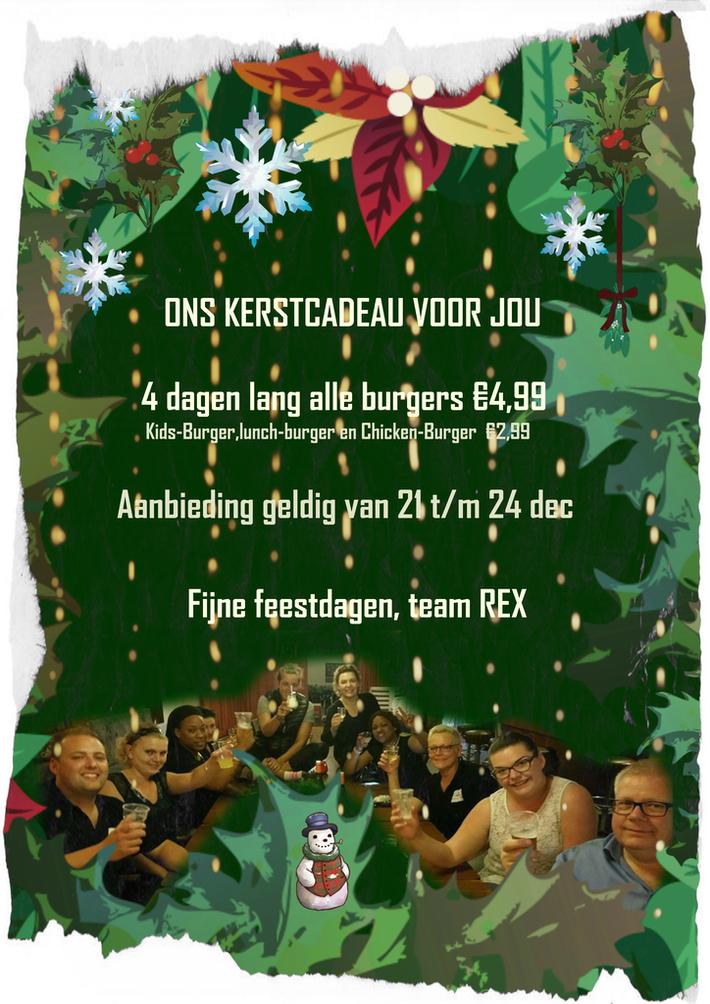 Kerstcadeau voor klanten van cafetaria REX