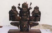 Aegapaadha Murthy ll Copper oxidised welded 100x100x30 cms 2003