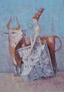 003 Abduction Of Europe 2012  canvas,  acrylic 100х70 cm