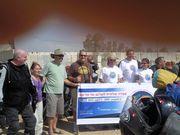 Marcha contra a violencia em Holit