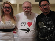 Yesenia and Luis wear Mustaches to Bill's Wedding