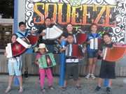 Accordion Band Camp Kids in Galveston