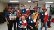 MECATX senior band playing for a Texas Indepedance Day