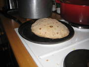 Making the Roti.