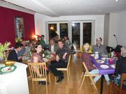 Guests at a supper club