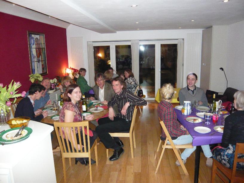 Guests at a supper club