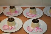 white choc & pistachio panna cotta